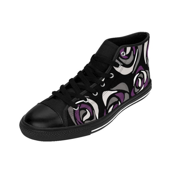 Asexual Sneakers Ace Lesbian Lgbt Bisexual Trans Womens Roses Flag Queer Pride Pansexual Hightop Sizing YFUUCq0pw