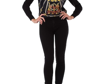 1990s Hermes Egyptian Scarab Sweater, Size: M