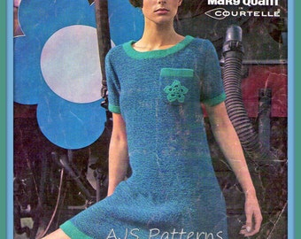PDF Mary Quant Iconic Daisy Dress Knittng Pattern - Retro 1960's