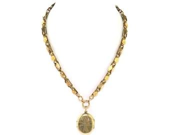 Antique Victorian Hair Locket Necklace