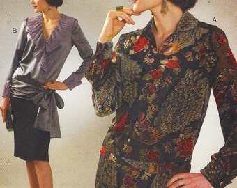 1920s Womens Pullover and Wrap Tops and Belt McCalls Sewing Pattern M7250 Size 6 8 10 12 14 Bust 30 1/2 to 36 UnCut Archive Collection