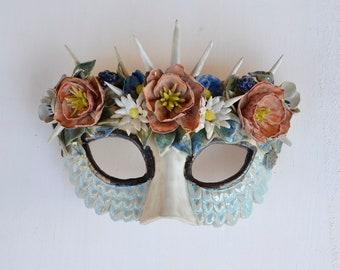 Flowers mask - stoneware