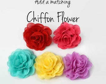Chiffon Flower for Dog Collar - Detachable flower to fit on any collar or harness - Great for weddings & special occasions