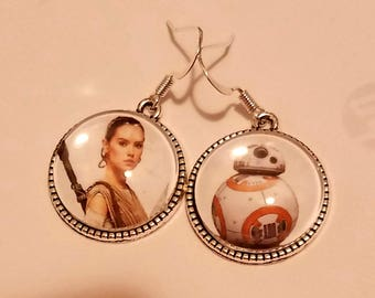 Star Wars Rey & BB8 earrings