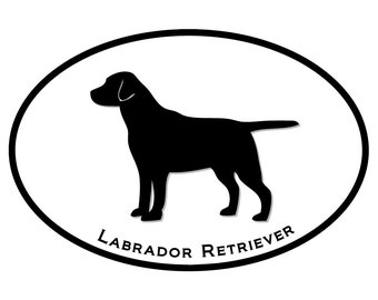Labrador Retreiver Dog Decal