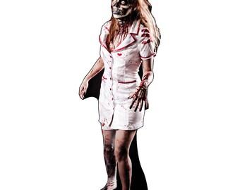 Zombie Nurse Life-Size Cardboard Cutout