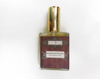 Sandalwood Bourbon Cologne for Men - 2oz Spray Cologne, Roll-On Men's Cologne or Body Mist for Men