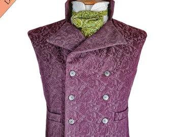 Steampunk Vest Sewing Pattern, Civil War costume, Western Waistcoat, Victorian, Gilet de Vaporiste, Instant download ER