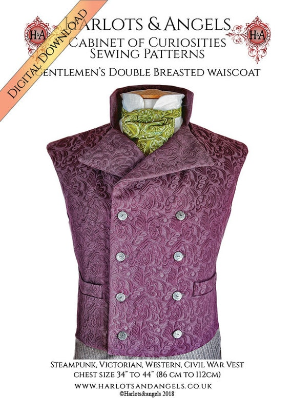 Steampunk Vest Sewing Pattern Civil War Costume Western