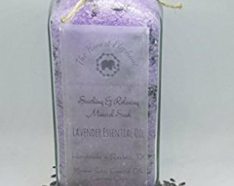 t Deluxe Soothing & Relaxing Lavender Essential Oil Bath Salt 16 oz