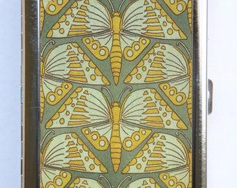 Art Nouveau Butterflies Cigarette Case Wallet Business Card Holder
