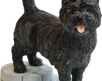 Cairn Terrier Figurine Ornament Gift Collectible, Available in Black Grey Wheaton/Tan
