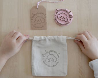 Custom rubber stamp logo - hand carved - gift idea