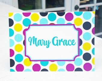 Personalized Notecards Printable or Printed with FREE SHipping - Personalized Stationary