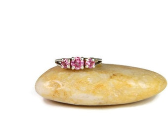 3 Stone Ring 925 Silver Engagement Ring Friendship Ring Triple Stone Ring Wedding Ring