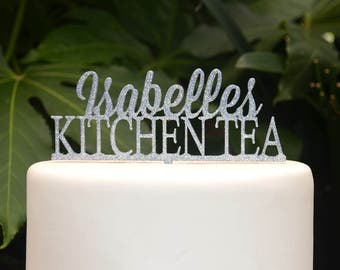 Kitchen Tea Cake Topper - Bridal Shower Party - Bride Wedding Cake Topper - Bachelorette Party