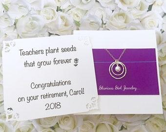 CADEAU pour professeur retraite bijoux argent cadeau de retraite pour ses bijoux en perle sur le prochain chapitre cadeau emballé prêt à expédier