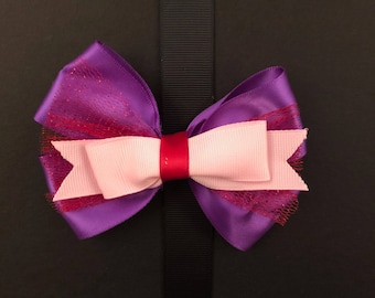Purple and Pink Bow with Red Center