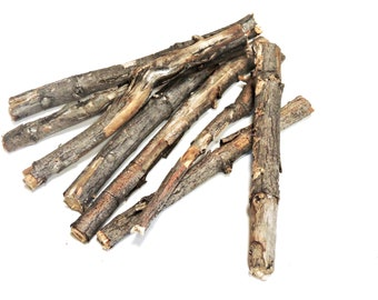 "Natural Peeling Bark Maple Wood Sticks for Crafting, 4 - 6"" Lengths, Natures Weathered Raw Wood Dowels, Basket Bowl Fillers,  itsyourcountry"