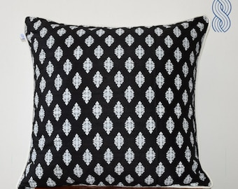 Printed Raw Silk Cushion Cover