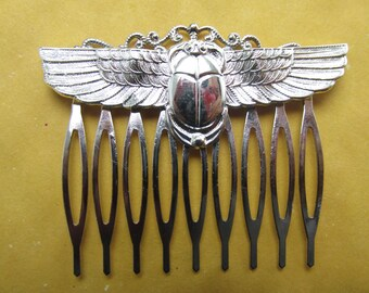 Scarab Hair Comb Vintage Hair combs Bridal Hair Accessories Decorative Combs Egyptian Hair comb