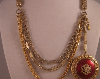 Red Paris Locket