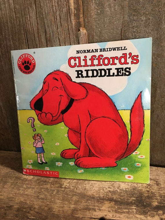 Clifford's Riddles by Norman Bridwell, 1974 Scholastic book edition of Clifford's Riddles, Clifford The Big Red Dog, vintage children's book