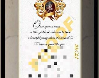 25 Scroll Birthday Invitation Set -Crest 331