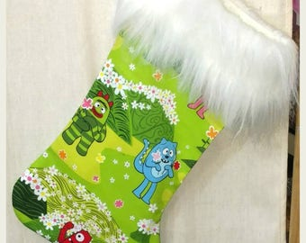 Yo Gabba Gabba! Christmas Stocking Handmade