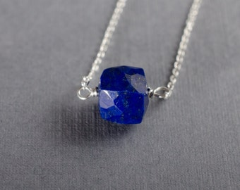 Lapis Little Rock Necklace- or choose your stone