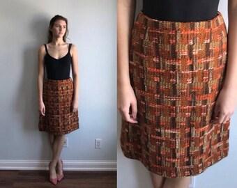 Vintage Wool Skirt, Pringle, 1960s Wool Skirt, Vintage Skirt, Plaid Wool Skirt, Vintage 1960s Skirt, Made in Scotland Pringle Skirt