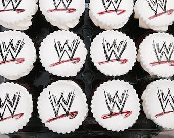 WWE Cupcake Toppers-1 Dozen