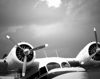 airplane art, airplane decor, aviation art, Grumman Goose photo, pilot gift, vintage airplane, amphibian