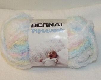 Bernat Pipsquak Yarn, Baby Baby Print Bernat Yarn, Variegated Bernat Yarn, Green Baby Yarn, Pink Baby Yarn, Bernat Yarn, Bernat Pipsqueak