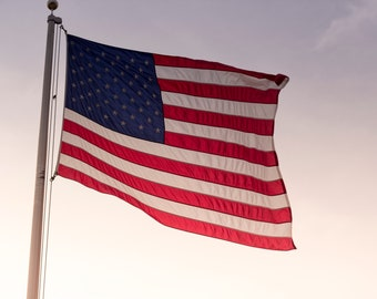 Patriotic Wall Art, United States of America Flag Photograph