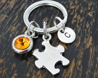 Autism Keychain, Custom Keychain, Custom Key Ring, Autism Charm, Autism Pendant, Autism Jewelry, Autism Awareness, Autism Teacher Gift