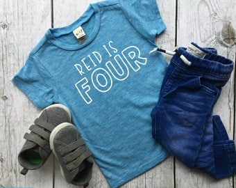 Fourth birthday shirt | birthday shirt | Four shirt | boy birthday shirt | boy fourth birthday shirt | birthday outfit | 4th birthday shirt