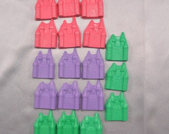 Crayons, Princess Party Favors, Castle Shaped Recycled Crayons - Set of 18.  Boy or Girl Kids Unique Party Favors, Crayons.