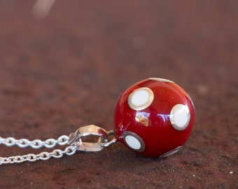 Mexican Bola - Chime Ball - Harmony Ball - Angel Caller - Bola Necklace Charm - Pregnancy Gift - Sterling Silver - Sphere Pendant Only