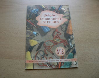 Vintage full colour embroidery instruction booklet 30s 40s 50s
