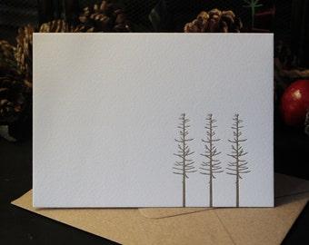 Winter Trees Letterpress Notecard
