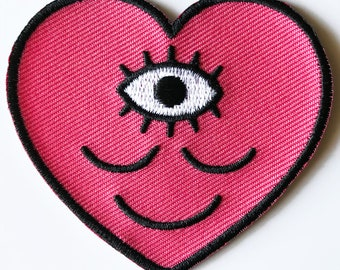 Wokeface Pink Heart Patch