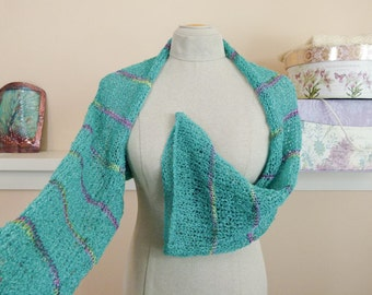 Knit Shrug for the Beach or Poolside Swimsuit Coverup in Vegan Fiber - Ladies Size Sm/Med - Item 1475