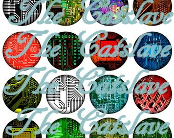 Circuit Board Pins Magnets Tech Geek Gift Sets Party Favors Fridge Magnets