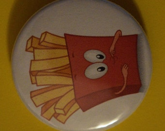 1.5 cute French fries Button Pin back