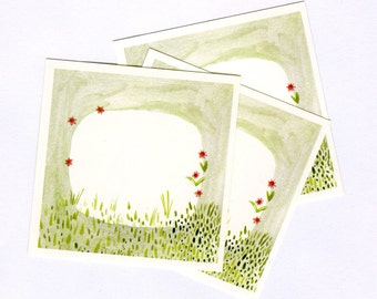Little Garden labels - set of 8 stickers
