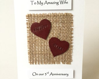 Rd anniversary card etsy