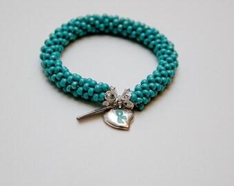 Prostate Cancer Awareness Bead Crochet Bracelet