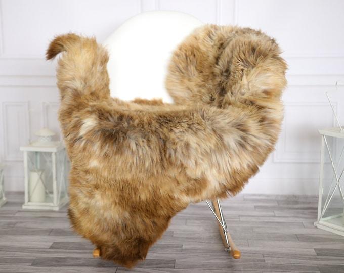Sheepskin Rug | Real Sheepskin Rug | Shaggy Rug | Chair Cover | Sheepskin Throw | Brown Beige Sheepskin | Home Decor | #Apriher35
