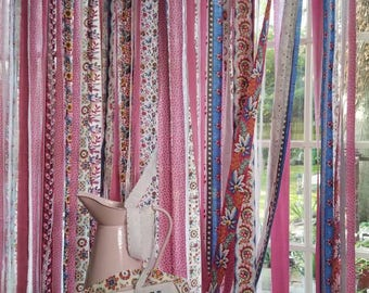 Bohemian Curtains Junk Gypsy Hippie Curtains Door Panel Boho Shabby Chic Curtain Festival Glamping Hippie Vanlife